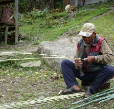 Weaving bamboo